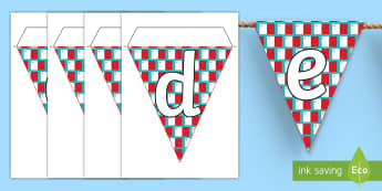 Maltese Display Bunting - maltese, display, bunting, latters, alphabet, alphebet, flags, letters and sounds, letters,