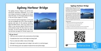 Sydney Harbour Bridge Code Hunter - Australia YR 3 and 4 Design Technology, Sydney harbour bridge, sydney, bridges, bridge construction,