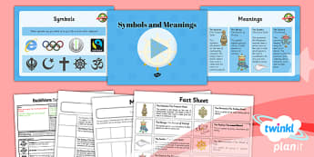 PlanIt - RE Year 4 - Buddhism Lesson 6: Symbols and Meanings Lesson Pack - buddhist, Buddha, symbols, definitions, matching