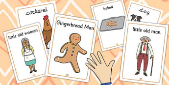 The Gingerbread Man Display Posters - poster, displays, tales