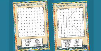 Ancient Egyptian Creation Story Differentiated Wordsearch - egypt