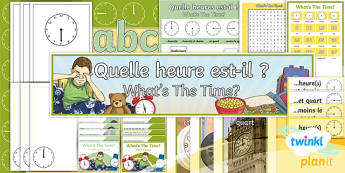 PlanIt - Year 4 French - What's the Time? Additional Resources-French - french, languages, grammar, time,French