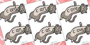 k Sound And Vowel Animal Jigsaw - sounds, vowels, jigsaw, animals
