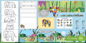 Story Sack Resource Pack to Support Teaching on Elmer - story sack, story books, story book sack, stories, story telling, childrens story books, traditional tales