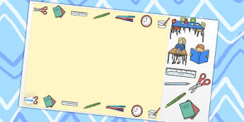 School Themed Editable PowerPoint Background Template - school, editable powerpoint, powerpoint, background template, themed powerpoint, editable