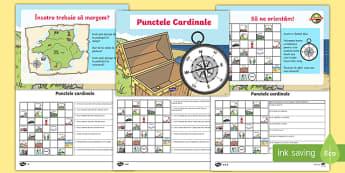 Punctele cardinale - Pachet cu activități