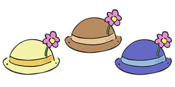 Editable Hats - Hat, hats, editable, display hat, A4