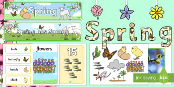 Spring Display Pack - Spring, First day of Spring, Writing, story, animals, growth, seasons,