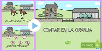 En la granja aprende a contar PowerPoint-Spanish