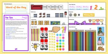 Twinkl Mug Box Ideas Resource Pack