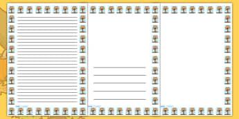 Autumn Tree Portrait Page Borders- Portrait Page Borders - Page border, border, writing template, writing aid, writing frame, a4 border, template, templates, landscape