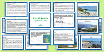 Scottish Islands Information Cards