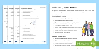Evaluation Quotes Card Pack