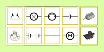 Matching Informal and Scientific Circuit Symbols - circuit, symbols, scientific, pictures, diagram