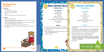 Playdough Picnic Busy Bag Resource Pack for Parents - Whatever Next, Jill Murphy, space, role-play, playdough