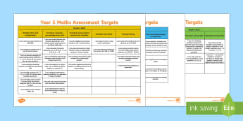 Curriculum for Wales Year 5 Mathematics Assessment Targets - Back to school resources, Assessment, Posters, Targets, Year 5, Mathematics, Wales, numeracy, number