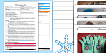 Matching Winter Clothes EYFS Adult Input Plan and Resource Pack - lesson plan, adult