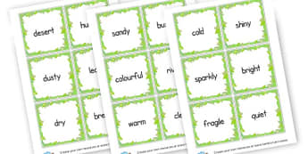 Setting Adjective Cards - KS2 Settings, Story Writing, English, Literacy, KS2 English
