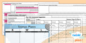 PlanIt - Science Year 3 - Plants Unit Assessment Pack - plants, unit, science, assessment, 2014, curriculum, planning, ks2