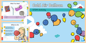 Cold-Air Balloon STEM PowerPoint - Make a Move! Science Energy Forces Wind Power Propel STEM Experiment