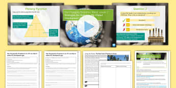 The Changing Economic World Lesson 2 – Strategies for Reducing the Global Development Gap Lesson Pack - fairtrade, debt relief, microfinance loan, tourism, investment, intermediate technology