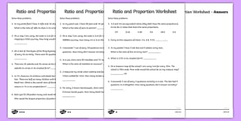 Ratio and Proportion 3: Differentiated Activity Sheet Pack - ratio worksheet, proportions worksheet, ratios and proportions, ks2 maths worksheet, ratio questions, proportions