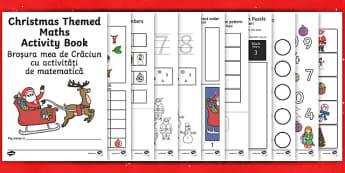 Christmas Themed Maths Activity Book English/Romanian - Christmas Themed Maths Activity Book - christmas, maths, activity, chritmas, chriatmas, christms, ch