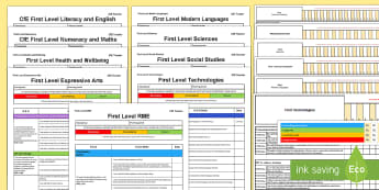 CfE First Tracking and Assessment Bumper Planning Pack - CfE Tracking and Assessment, tracker, planning, monitoring, progression