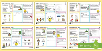 Year 2 Summer Term 1 SPaG Activity Mats - KS1, Key Stage 1, key stage one, year 2, Y2, year two, SPaG, spelling, punctuation, grammar, reading