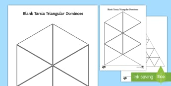 Blank Tarsia Triangular Dominoes, triominoes, triangles, triangle shapes, tessellation, tessellate  - Tarsia, gcse, physics, conduction, convection, radiation, heat, energy, energy transfer, specific he