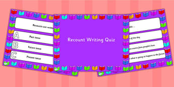 Recount Writing PowerPoint Quiz - recount, writing, powerpoint