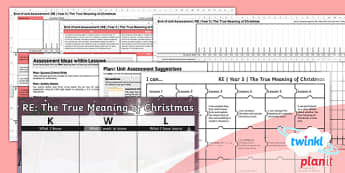 PlanIt - RE Year 5 - The True Meaning of Christmas Unit Assessment Pack