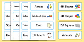 Classroom Resource Labels (Blue) - Label template, Resource Label, Name Labels, Editable Labels, Drawer Labels, KS1 Labels, Foundation Labels, Foundation Stage Labels, Teaching Labels, Resource Labels, Tray Labels, Printable labels