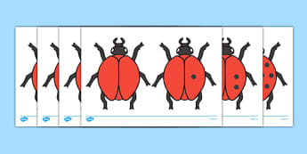 Ladybird Cut-Outs with Spots (0-10) - Ladybirds, counting, 0-10, numeracy, ladybirds, minibeasts, foundation numeracy, Number recognition, Number flashcards, 0-10