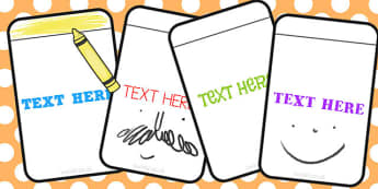 Editable Blank Flashcards - blank, flashcards, editable, activity