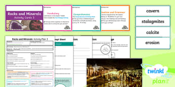 Y3 Rocks and Mineral: Activity Plan 3 PlanIt Guided Reading Pack to Support Teaching on Rocks and Minerals - Rocks and Minerals, rocks, non-fiction, guided reading, Caroline Bingham, rocks and minerals, readin