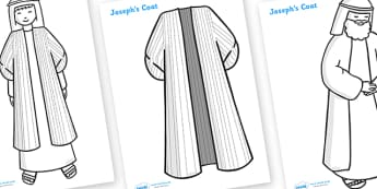 Joseph Story Colouring Sheets - Joseph, coat, Jacob, bible story, bible, slave, colouring, fine motor skills, poster, worksheet, vines, A4, display, brothers, cupbearer, pharao, prison, cows, corn, dreams, Palace, Egypt, fat, thin