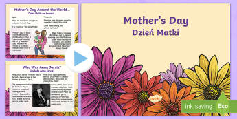 Mother's Day PowerPoint English/Polish - CfE Mother's Day March 26thMother's Day around the worldMother's day traditions,Scottish,Scottish