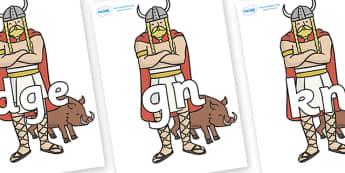 Silent Letters on Vikings - Silent Letters, silent letter, letter blend, consonant, consonants, digraph, trigraph, A-Z letters, literacy, alphabet, letters, alternative sounds