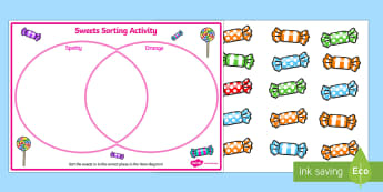 Venn Diagram Sweets Sorting Activity - venn diagram, maths, sort