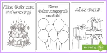 Birthday Cards German - Happy birthday, German, Geburtstag