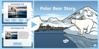 Polar Bear Drama Story and Photos PowerPoint - Priority Resources, polar bear, polar bears, drama, stories, KS1, movement, PE, dance, role play
