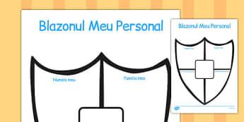 Blazonul Meu Personal - scriere, cine sunt eu, ce ma reprezinta, Romanian