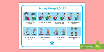 PE Changing Clothes Mats - EYFS, Early Years, PE, sequence, clothes, PD, Physical Development, getting dressed