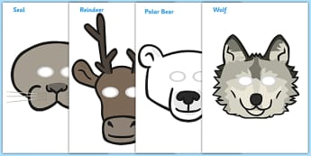 Polar Region Role Play Masks - Arctic, winter, Role Play, mask