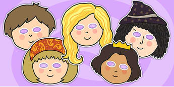 Rapunzel Role Play masks - Rapunzel, prince, witch, tower, long hair, fairytale, traditional tale, Brothers Grimm, tower, woods, forest, prince, let down your hair, story, story sequencing, role play mask, role play
