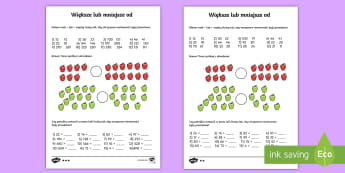 Karty Większe lub mniejsze od - większe, mniejsze, od, niż, liczby, nierówności, nierówność, mniejszości, większości znak,