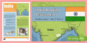 Year 3 Non Fiction India Reading Assessment Resource Pack - Reading Practice Tests for Wales, Reading, reading, tests, test, profion, darllen a deall, year 3, y