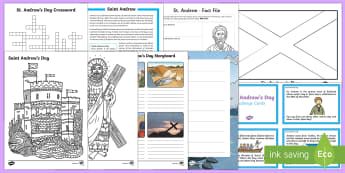 Top Ten KS2 Saint Andrew's Day Activity Pack-Australia