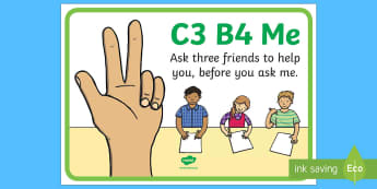 C3B4Me Display Poster - New Zealand Back to School, independent learning, C3B4Me, see three before me, posters, display, ind